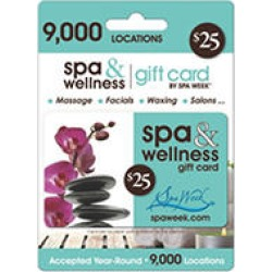 Spa Week® Spa and Wellness $25 Gift Card