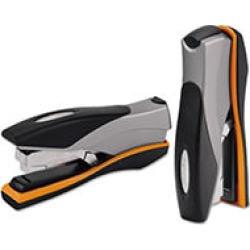 Swingline - Optima Desk Stapler, 40-Sheet Capacity - Silver/Orange/Black