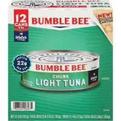 Bumble Bee Chunk Light Tuna in Water (5 oz, 12 ct.) found on Bargain Bro India from Sam's Club for $9.98