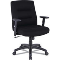 Alera Kesson Series Petite Office Chair, Supports up to 300 lbs, Black Seat/Black Back, Black Base found on Bargain Bro India from Sam's Club for $179.98