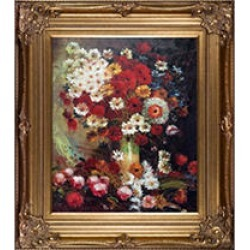 Vincent Van Gogh Vase with Poppies Cornflowers Peonies and Chrysanthemums Hand Painted Oil Reproduction found on Bargain Bro India from Sam's Club for $249.88