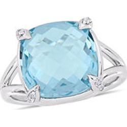 9 CT. Blue Topaz and White Topaz Cocktail Ring in Sterling Silver 8.5 found on Bargain Bro from Sam's Club for USD $98.04