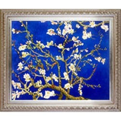 La Pastiche Original Branches of an Almond Tree in Blossom, Sapphire Blue Hand Painted Oil Reproduction found on Bargain Bro India from Sam's Club for $179.88