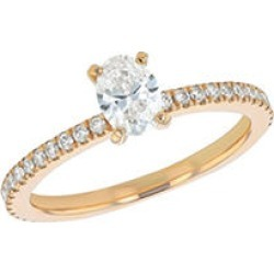 S Collection Bridal 0.75 CTTW Oval Diamond Ring In 14K Yellow Gold (SI2, H-I) 5