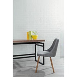 Giovanni Mid-Century Modern Dining/Accent Chair in Walnut and Grey Quilted PU found on Bargain Bro India from Sam's Club for $119.88