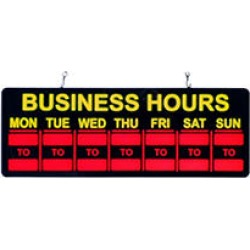 Mystiglo - In-Light LED Business Hours Sign