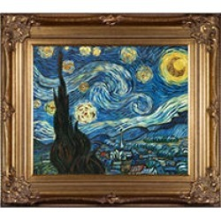 Vincent Van Gogh Starry Night (gold) Hand Painted Oil Reproduction found on Bargain Bro Philippines from Sam's Club for $299.88