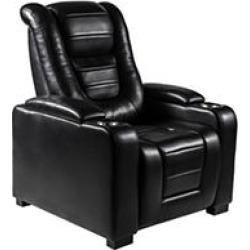Myles Power Theater Recliner with Adjustable Headrest, Black