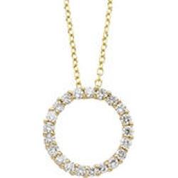 0.25 CTTW DIAMOND PENDANT Y