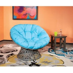 OSP Designs, Papasan Chair - Blue