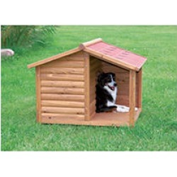 Natural Pitched Roof Dog House with Covered Terrace - Medium found on Bargain Bro India from Sam's Club for $159.98