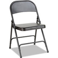 Alera Steel Folding Chair, Graphite