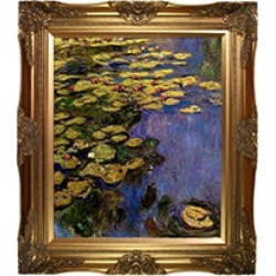 Claude Monet Water Lilies Hand Painted Oil Reproduction found on Bargain Bro from Sam's Club for USD $174.71