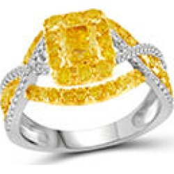 1.50 ct. t.w. Yellow and White Diamond Fashion Ring in 14KW 6 found on Bargain Bro from Sam's Club for USD $1,316.32