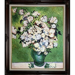 Hand-painted Oil Reproduction of Vincent Van Gogh's Vase with Roses. found on Bargain Bro from Sam's Club for USD $121.50