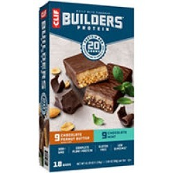 CLIF Builder's 20g Protein Bar, Variety Pack - 2.4 oz. - 18 ct.