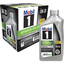 Mobil 1 0W-20 Advanced Fuel Economy Motor Oil (6-pack / 1-quart bottles)