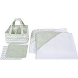 Trend Lab 5 pc. Baby Bath Gift Set, Sea Foam