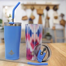 Heritage Set of 2 - 20oz Double Wall Stainless Steel Tumbler -Blue