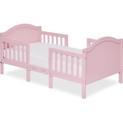 Dream On Me Portland 3-in-1 Convertible Toddler Bed, Pink
