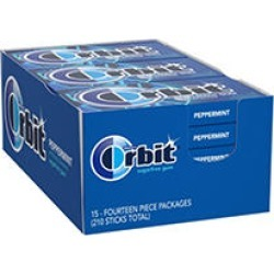 Orbit Peppermint Sugar-Free Gum (14 ct, 15 pks.)