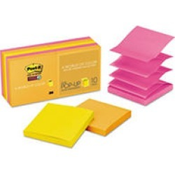 Post-it Pop-up Super Sticky Notes Refill, 3 x 3, 90 Sheet Pads, 10 Pads, 900 Total Sheets, Rio de Janeiro