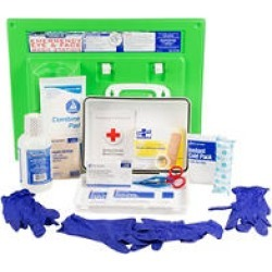 PhysiciansCare Eyewash Station and First Aid Kit, 25 Person Kit