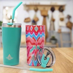 Heritage Set of 2 - 20oz Double Wall Stainless Steel Tumbler -Green