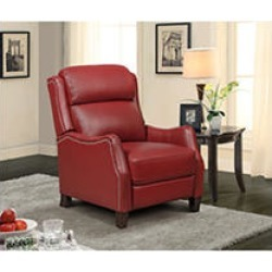 Jaxon Leather Press Back Recliner, Red