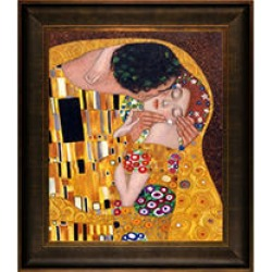 Hand-painted Oil Reproduction of Gustav Klimt's The Kiss.