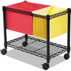Safco Wire Mobile File, One-Shelf, 14w x 24d x 20.5h, Black
