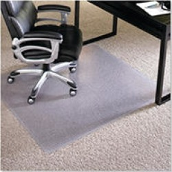 ES Robbins - Executive AnchorBar Rectangular Chairmat, Plush Pile - 46 x 60