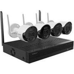 Wisenet-4 Channel 1080p Full HD NVR Surveillance System with 1TB Hard Drive, 4- Wireless 1080p Indoor/Outdoor Cameras found on Bargain Bro India from Sam's Club for $299.00