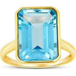Sky Blue Topaz Emerald Shaped Ring in 14 Karat Yellow Gold 6.5 found on Bargain Bro from Sam's Club for USD $166.44