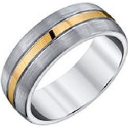 Men's Grey and Yellow Accent Tungsten Band 9 found on Bargain Bro from Sam's Club for USD $48.64