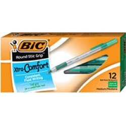 BIC Round Stic Grip Xtra Comfort Ballpoint Pen, Green Ink, 1.2mm, Medium, 12ct. found on Bargain Bro Philippines from Sam's Club for $2.64