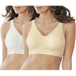 Bali Bra 2 Pack-Khaki/White Size M found on MODAPINS from Sam's Club for USD $23.98