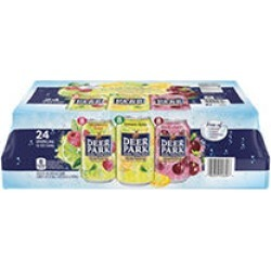 Deer Park Sparkling Spring Water Can Variety Pack (12 oz, 24 pk.) found on Bargain Bro India from Sam's Club for $8.98