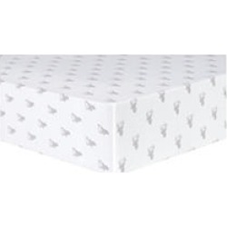 Trend Lab Deluxe Flannel Fitted Crib Sheet, Stag Silhouettes