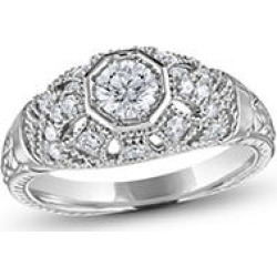 .75 ct. t.w. Vintage Style Diamond Ring (G-H, SI2) White Gold found on Bargain Bro from Sam's Club for USD $833.72