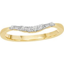 0.15 ct. t.w. 14K Yellow Gold Contour Band with Round and Baguette Diamonds (H-I, I1) - Size 8.5 found on Bargain Bro India from Sam's Club for $279.00