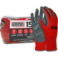 Grease Monkey 15Pk. Nitrile Coated Work Gloves