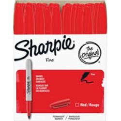 Sharpie Permanent Marker, Fine Point, Red (36 Pk.)