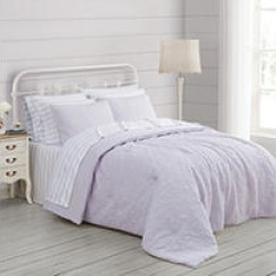Prairie by Rachel Ashwell Quilted Top Comforter Set - 3 pc king Lavendar