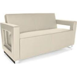 OFM Distinct Series, Polyurethane Soft Seating Lounge Sofa with Chrome Base, Model 832, Cream