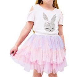 Btween 2PC Tutu Set Sequin Bunny, Size6/6X found on Bargain Bro from Sam's Club for USD $9.86