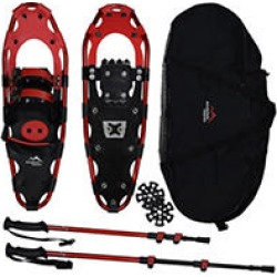 Mountain Tracks Pro Series 24.5 inch Snowshoe Set - Red found on Bargain Bro Philippines from Sam's Club for $119.98
