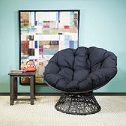 OSP Designs, Papasan Chair - Black