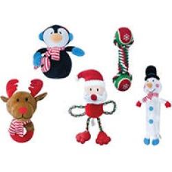 Bone & Barkers Holiday Dog Toys, Small to Medium (5 pk.)