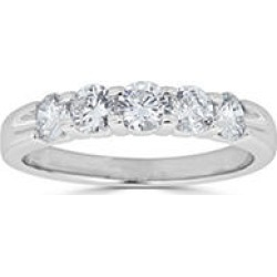 0.49 CT. T.W. 5-Stone Diamond Band Ring in (HI, I1) White Gold 8 found on Bargain Bro India from Sam's Club for $599.00